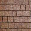 cobblestone stamped concrete design