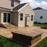 seamless slate concrete patio