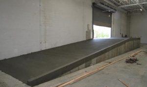 loading ramp in industrial warehouse